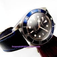 41mm corgeut 고급 기계식 자동 miyota 손목 시계 남성 다이버 200m 방수 블루 삽입 베젤 사파이어 p139