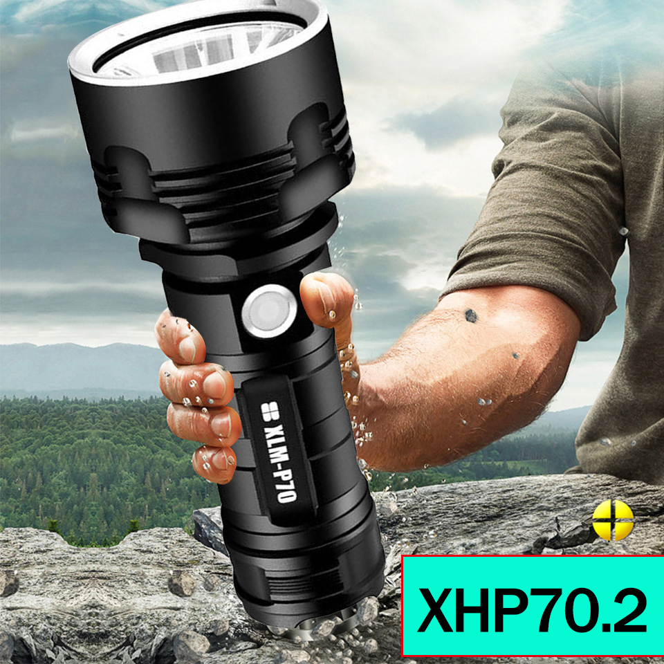 Litwod Super Powerful XHP70 LED Flashlight XM-L2 Tactical Torch USB Rechargeable Linterna Waterproof Lamp Ultra Bright Lantern
