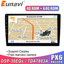 Eunavi 2 Din Android 9,0 universal Auto Radio Stereo 8 KERNE Multimedia Player GPS Navigation Audio tda7851 autoradio video