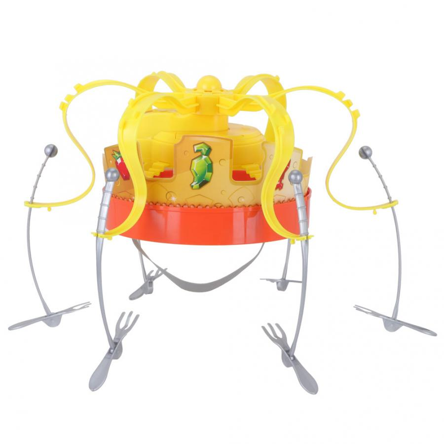 Party Crown Game Funny Parent-Child Interactive Family Party Game Rotating Food Toy Spinning Crown Snacks Food Party Toy