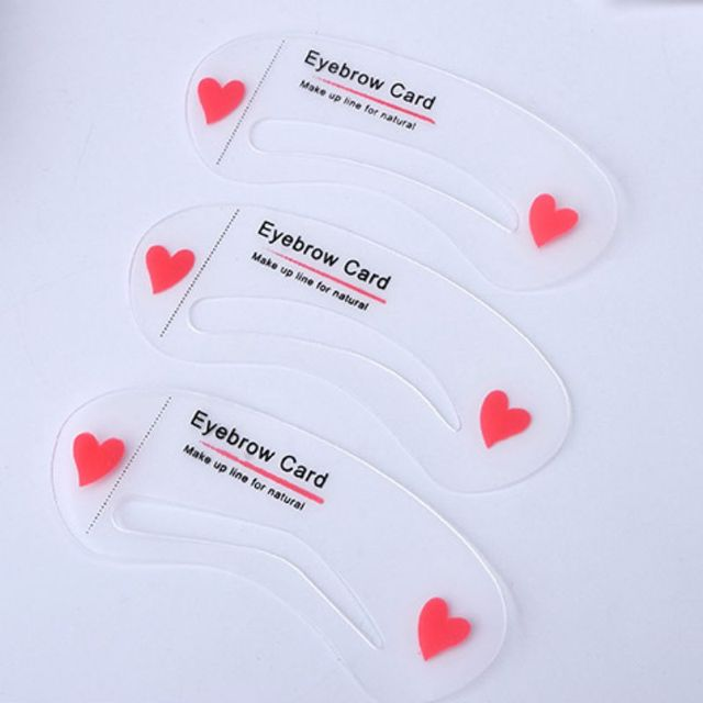 Easy to Use 3Pcs/set Thrush Card Threading Word Eyebrow Makeup Tools Threading Artifact Thrush Card Eyebrows Mold 2