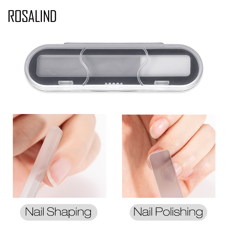 ROSALIND Nano Nail File Sanding Buffer Block All For Manicure Professional Art Buffing Care Pedicure Repeatable Tool Nail Files