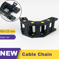 65*125 65x125 Nylon Plastic Transmission Cable Chain Drag Leaf Chain Towline 65 Wire Carrier
