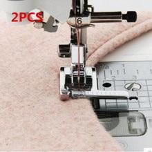Calcador para máquina de costura doméstica, pedal de calcanhar multifuncional com régua e guia para costura, medida metálica AA7016 2