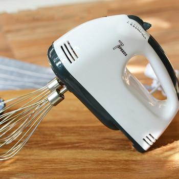 100W 7-prędkości elektryczny mikser trzepaczka do jajek ręczny miksery żywności jaj mieszanie blender kuchnia gotowanie narzędzia do pieczenia mieszadło tanie i dobre opinie chcyus 100 w 220 v CN (pochodzenie) Przycisk wyrzutnik trzepak Hand held 7 speeds Z tworzywa sztucznego Dough hook Drut bat