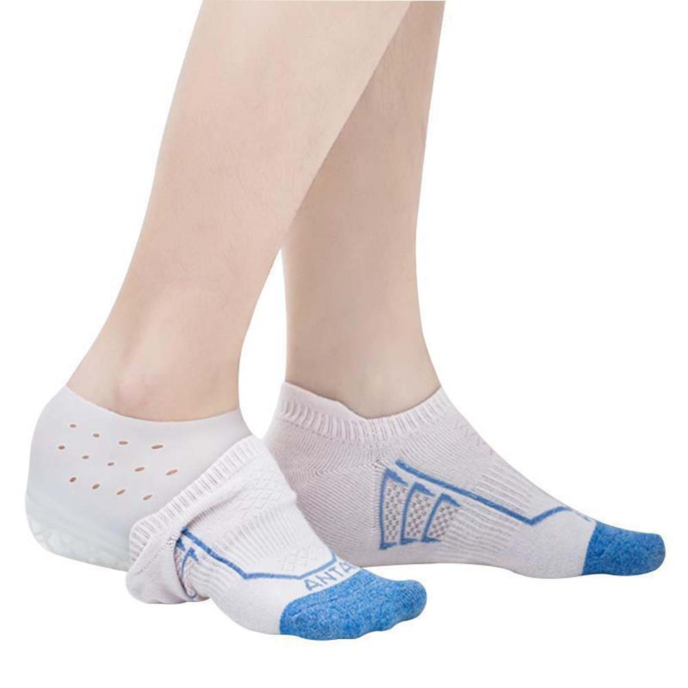 2cm Increase Height Silicone Gel Pads In Socks Protect Heel Lift Foot Care Insole Invisible Shoes Plantar Fasciitis Pad