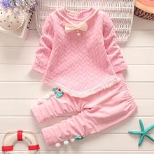 цена на Children Autumn Pure Cotton Two-piece Suit Kids Girl Long Sleeve Long Pants Set Children Kids Boy Girl Clothes Set