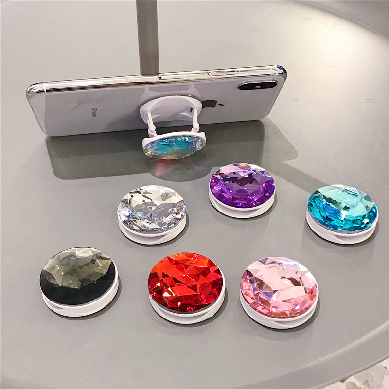 2020 NEW Phone Holder Colorful 3D Gem Ring Expanding Stand Socket Finger Bracket Base Finger Top Support Mobile Phone Stand