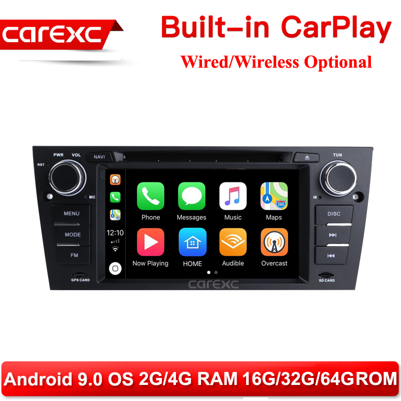 CarExc AutoRadio One Din Android 9.0 Car DVD Player Support Wireless CarPlay For BMW E90 E91 E92 E93 3 Series 325i 330i 335i image