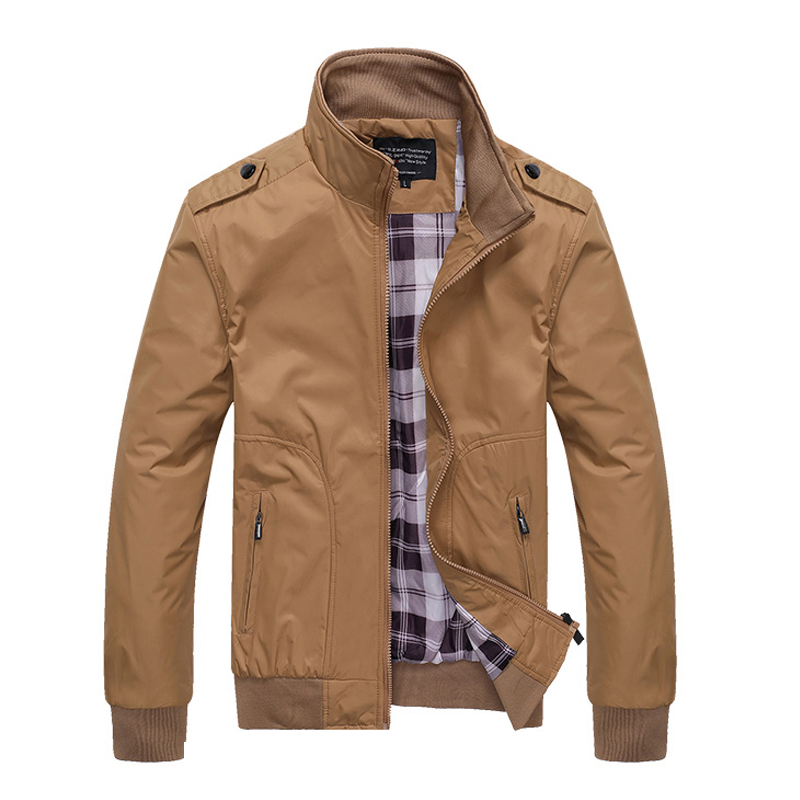 2020 Mens Jackets Spring Autumn Casual Coats Solid Color Mens Sportswear Stand Collar Slim Jackets Male Bomber Jackets 5XL