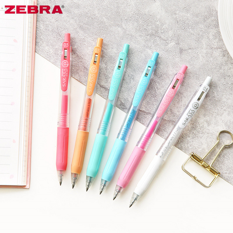 1pc Japan Zebra SARASA JJ15 Milk Color Series Pastel Press-type Gel Pen Water Based Multicolor Writing Office & School Supplies