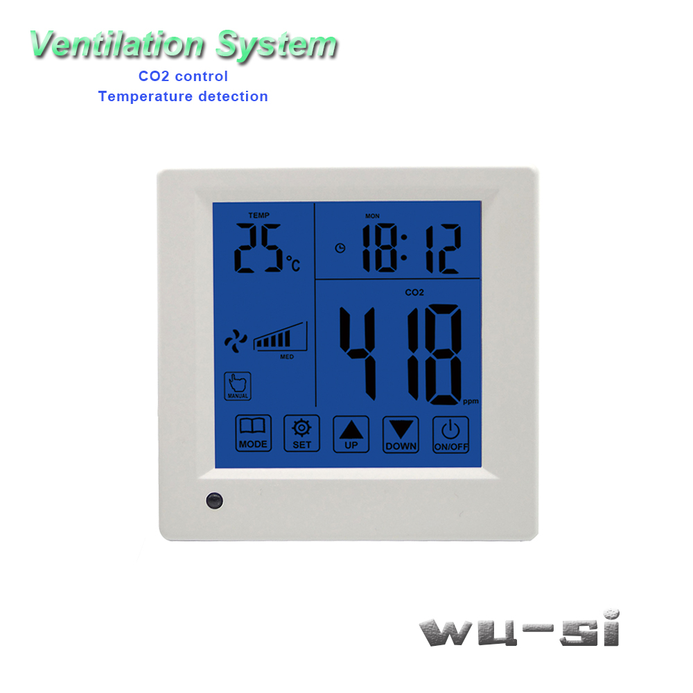 Co2 Tester Control Ventilation System,with Remote Control 3 Speed Relay Output Regulator