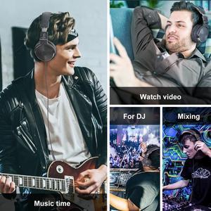 Image 5 - Oneodio auriculares estéreo con control por cable, para estudio de mezcla de graves, por encima de la oreja, plegables y cerradas, para DJ, teléfono y PC