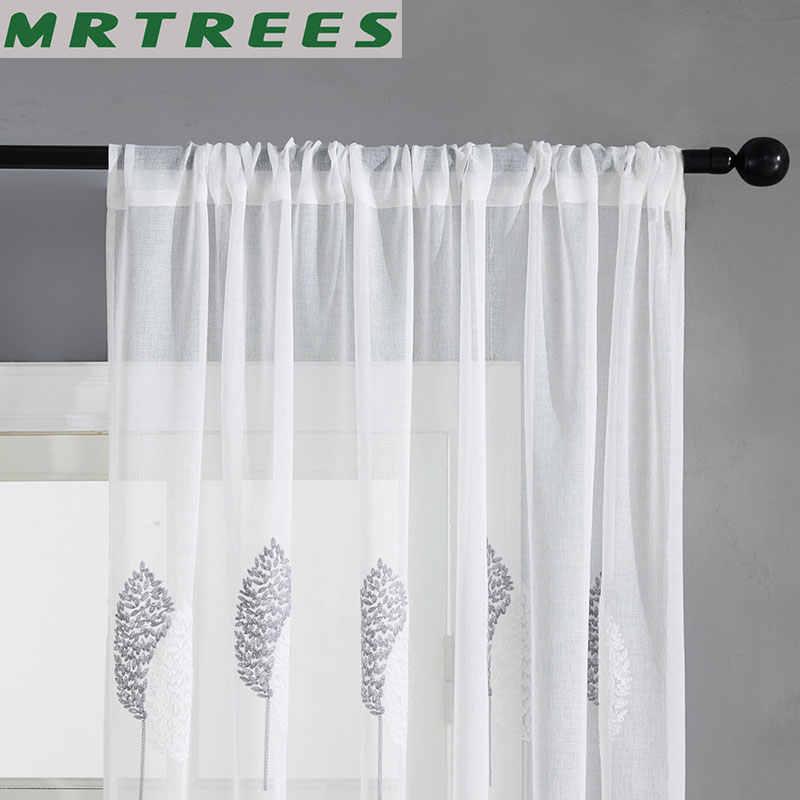 Ricamato In Tulle Finestra Tende Moderne per Soggiorno camera Da Letto Cucina Tende Trasparenti sulla Finestra Tende In Tessuto per il salone