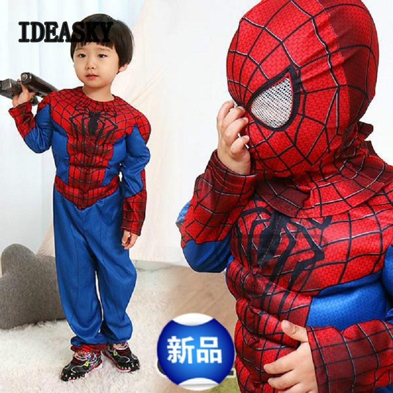Halloween Costume For Kids Animal Spiderman Muscle Suit Superhero Cosplay Costumes Grils Boys Carnival Spider Man Children Child