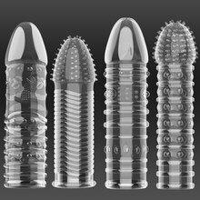 14 estilo pênis cobre extensor preservativo cristal reutilizável pênis preservativos dedo galo anel adulto sexo brinquedos para homem mais duradouro