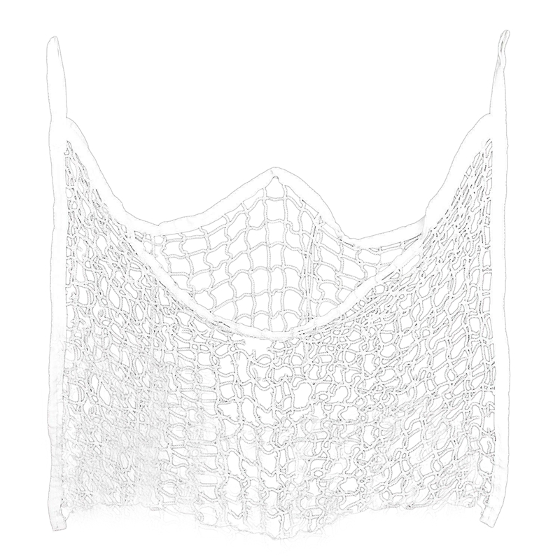 Hot AD-Slow Feed Hay Net Bag Full Day Horse Feeding Large Feeder Bag With Small Holes