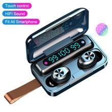 Bluetooth Kopfhörer F9-9 TWS Touch Kopfhörer Drahtlose Bluetooth 5,0 Kopfhörer Wasserdichte Led-anzeige PK S11 fone de ouvido 2020
