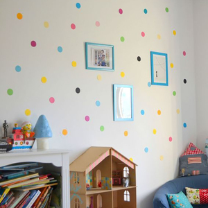 Image 5 - 29 Pcs/Set PVC Baby Wall Decals Colored Dots Creative Stickers for Children Vinyl Nursery Room Decoration