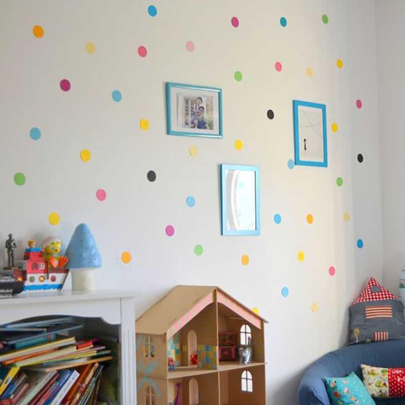 29 adet/takım PVC bebek duvar çıkartmaları renkli noktalar yaratıcı çıkartmalar çocuklar için vinil kreş odası dekorasyon