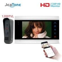Jeatone 7 Inch Wifi Slimme Bedrade Video Entry Deurtelefoon Intercom Systeem Met Regendicht Security Camera Deurbel Bewegingsdetectie
