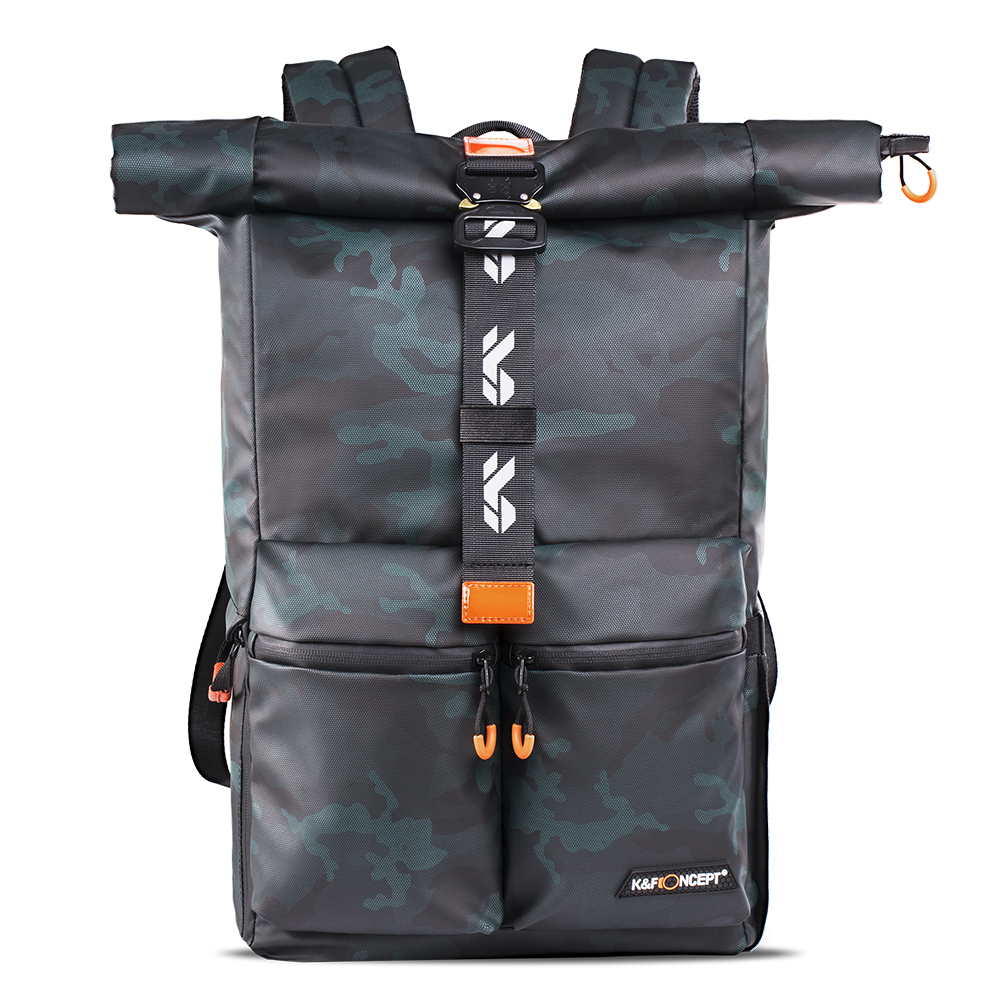 """K&F Concept Camera Backpack Waterproof Photography Camera Bag for SLR/DSLR Camera Lens 15"""" Laptop & Accessories with Rain Cover"""