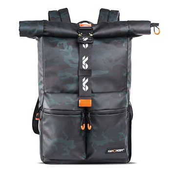 Mochila para cámara K & F Concept, bolsa impermeable para cámara fotográfica SLR/lente de cámara DSLR, 15 pulgadas, portátil y accesorios con cubierta para lluvia
