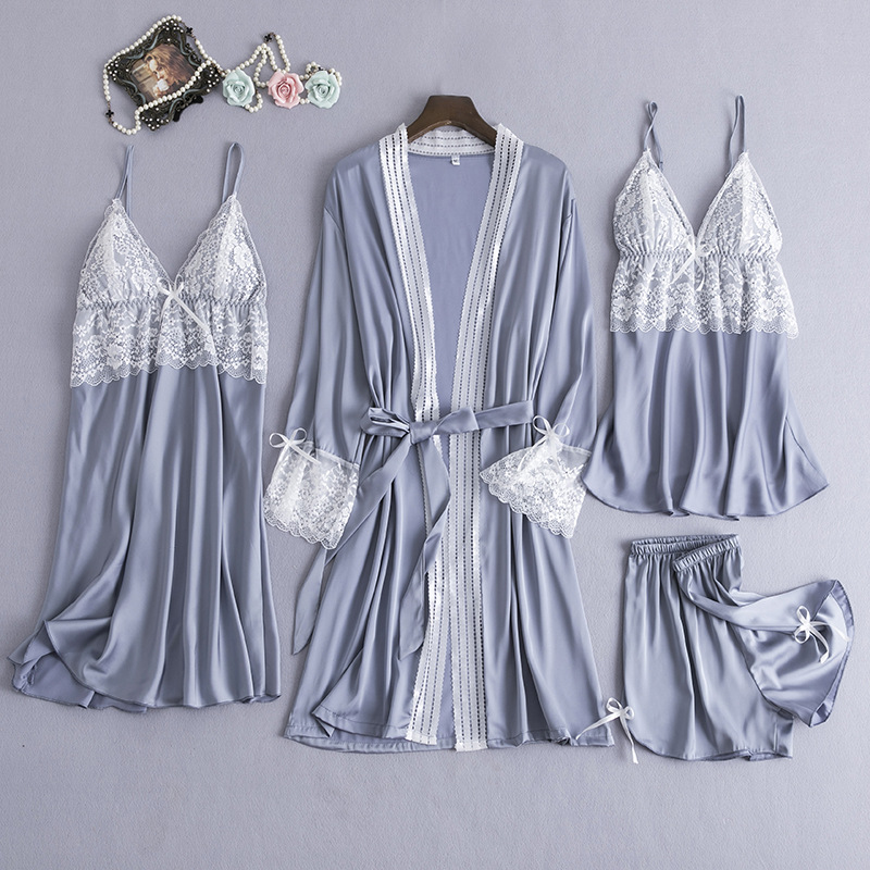 Women Rayon Satin Bridesmaid Kimono Bathrobe Dress Sexy Sleep Set Nightwear Sleepwear Casual Wedding Robe Intimate Lingerie