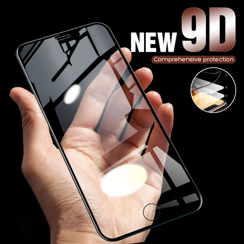 9D Protective Tempered Glass On The For IPhone 6 6s 7 8 Plus X 11 Pro Screen Protector Soft Edge Curved For IPhone XR XS MAX