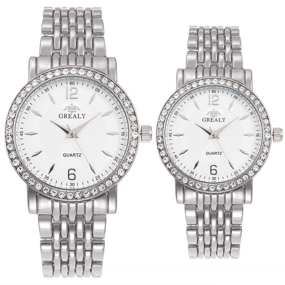 Top Hot Lovers' Fashion Watches Top Hot Clock Couple Wristwatches Men Women's Diamond Dial Business Watches