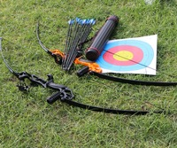 RU stock Toparchery Bow 30-40 lbs Powerful Hunting Archery bow and Arrow  set for shooting Gaming outdoor game