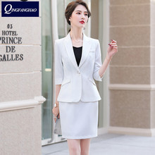 Summer 2020 new office suit woman blazer fashion design suit small fragrance style skirt pants pineapple hemp