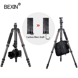 Image 3 - BX285C treppiede in fibra di carbonio portatile leggero treppiede da viaggio fotocamera treppiede pieghevole treppiede per fotocamera dslr