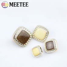 Scrapbook Scrapbooking Accessories Wooden Buttons Manufacturers Selling New Resin Overcoat Buckle Square Button Coat