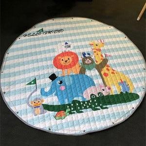 Image 3 - 150Cm Baby Speelkleed Matten Ronde Kids Rug Toys Kinderen Tapijt Katoen Ontwikkelen Mat Kleed Baby Puzzel Spelen mat Opbergtas Speelgoed