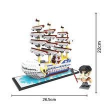 hot LegoINGlys creators Japan Anime one-piece Edward Newgate Dick pirate ship micro diamond building block model nano brick toys