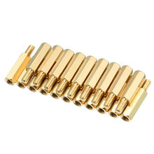uxcell 20pcs M3 15+6mm Female Male Thread Brass Hex Standoff Spacer Screws PCB Pillar(China)