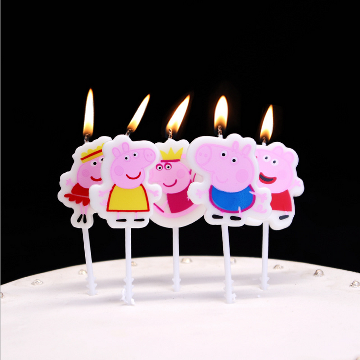 2021 New Cakelove Peppa Pig Cake Candle Birthday Party Supplies Cake Topper Anniversary Cake Numbers Age Candle Party Decoration