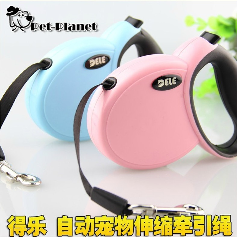 DELE Dog Maker Pet Automatic Hand Holding Rope Stretching Traction Belt Small