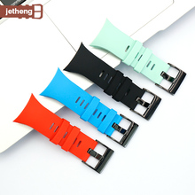 Silicone Watch Strap Suitable for SUUNTO Spartan Trainer Wrist HR Sports Watch Band With Tools цена 2017