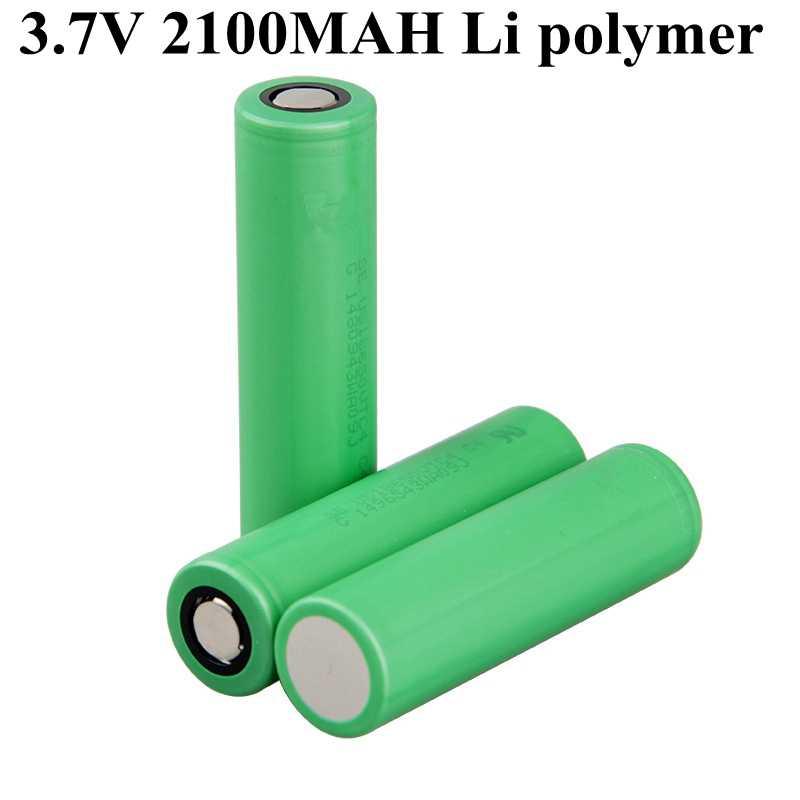 10 piezas de alta capacidad 2100mah 3,7 V batería de litio 18650 caja Mod batería mecánica Mod batería herramientas eléctricas baterías