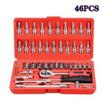 Car Repair Hand Tool Socket Wrench Set Universal Key Ratchet Spanner Kit Ratchet Bicycle Repair Tool Ratchet Wrench Spanner Set