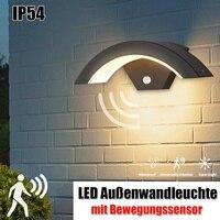 Outdoor Wall Light 15W Motion Sensor LED Wall Lamp Garden Yard Porch Outdoor Warm White Light Waterproof IP54 Weatherproof