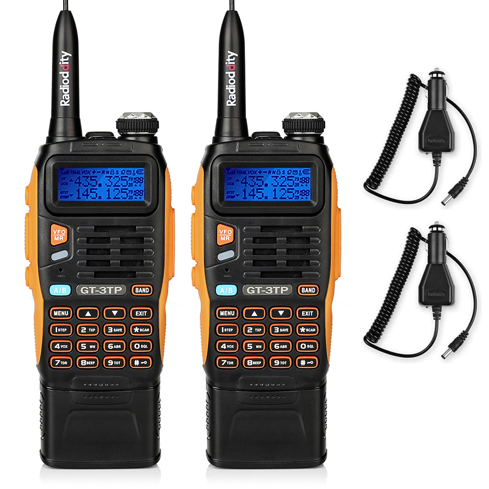 2 PCS Baofeng GT-3TP Mark III 8W Dual Band V/UHF Dual-standby Ham Two-way Radio Walkie Talkie  3800mAh Battery Transceiver