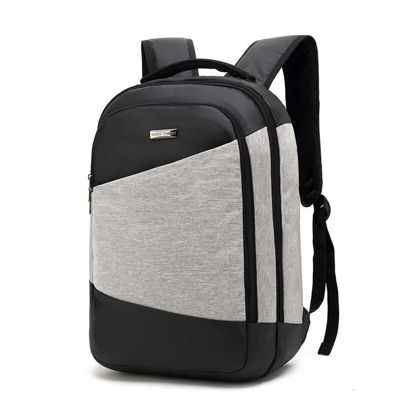 Remaja Siswa Sekolahnya Portable USB Backbag Kapasitas Besar Ransel Laptop Tas Travel Tahan Air Paket School Mochila