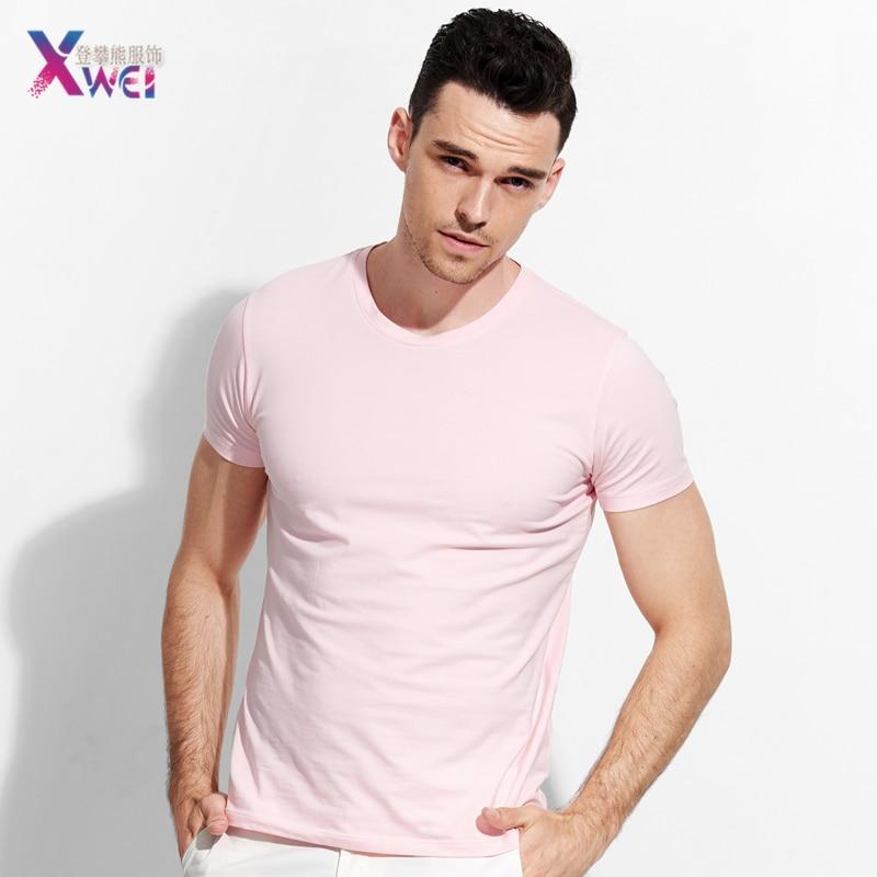 Nuevo color puro de los hombres camiseta, camiseta, camiseta de los hombres, camiseta, mujeres hip hop, skateboard, moda, camiseta casual, algodón XWEI
