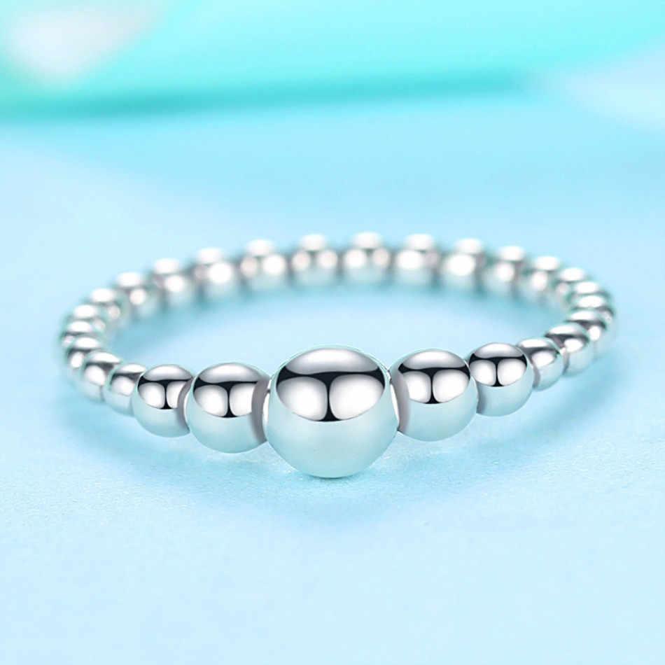 FOREWE кольца из чистого 925 пробы серебра на палец для женщин составной круглый шар из бисера кольца женские свадебные ювелирные изделия Рождественский подарок