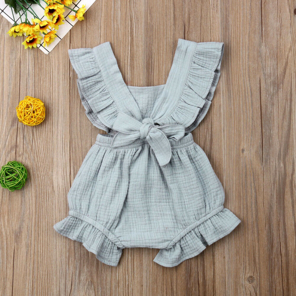 New 11Colors Newborn Baby Girl Ruffle Solid Romper Jumpsuit Outfit Summer Clothes New 11Colors Newborn Baby Girl Ruffle Solid Romper Jumpsuit Outfit Summer Clothes