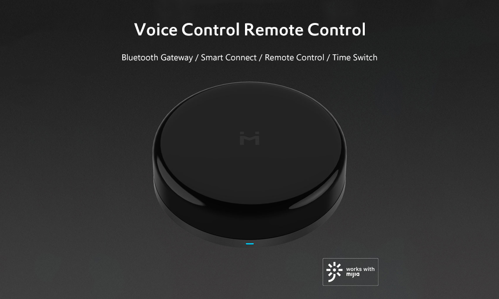 Xiaomi Universal Remote Control Bluetooth 4 2 Gateway Smart Home Remote  Controller Support Voice Control Work With Mijia APP