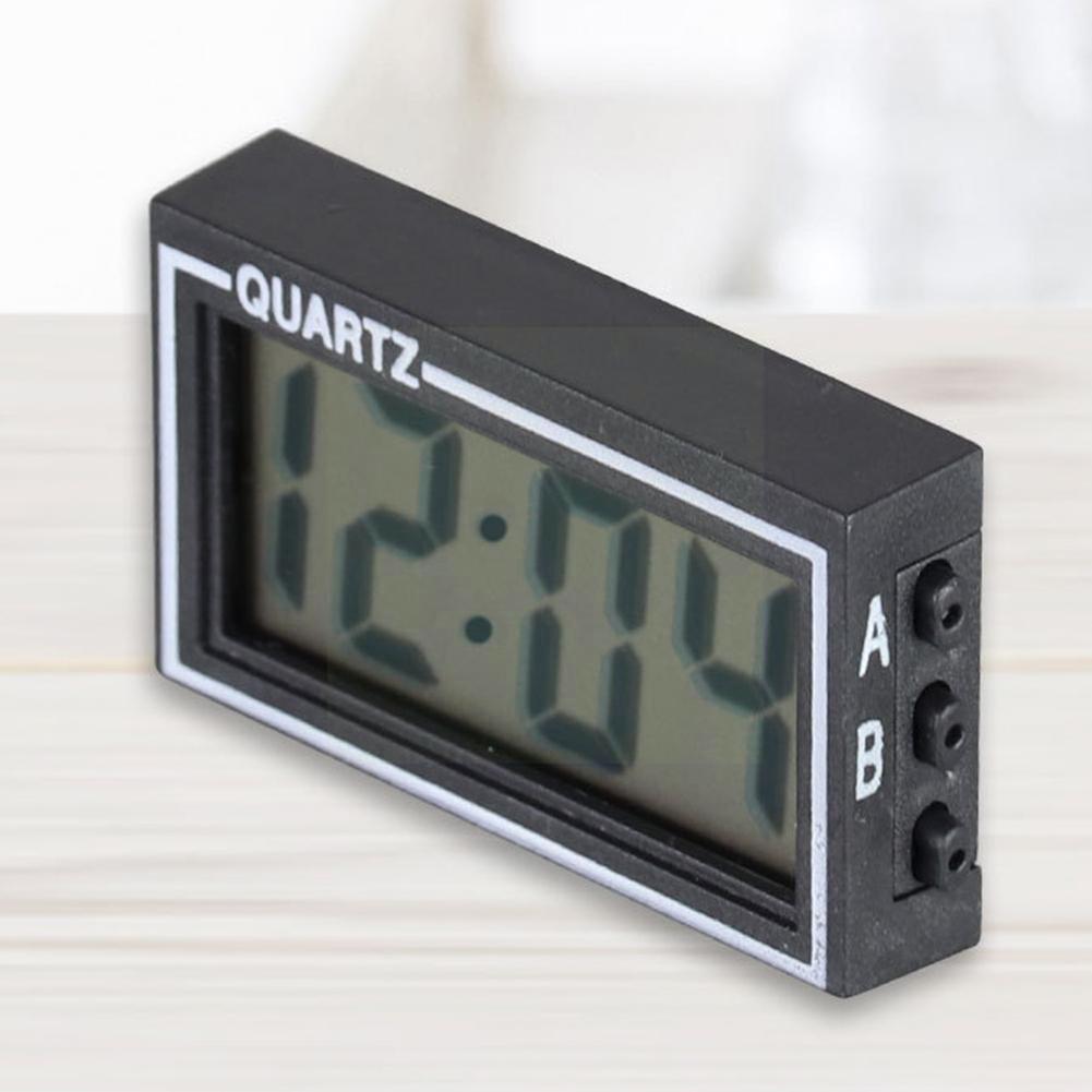 Mini Car Clock Auto Car Truck Dashboard Time Convenient Durable Self-Adhesive Bracket Vehicle Electronic Digital Clock For H1N7
